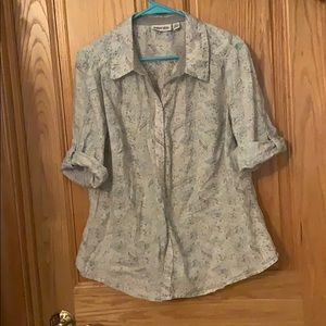 St Johns Bay 3/4 sleeve button down top